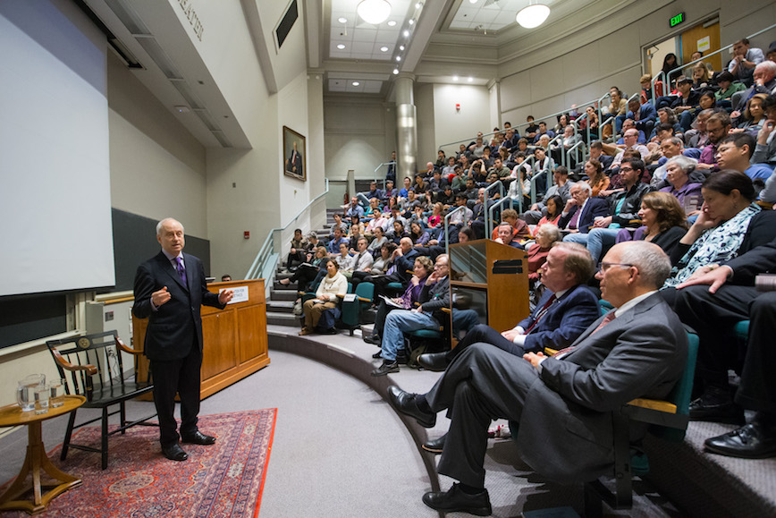 Speaker gives lecture at George W. Gay Lecture in Medical Ethics