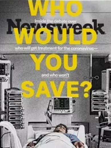 Newsweek cover: Who Would You Save?